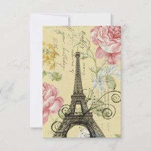 floral french Eiffel Tower Parisian birthday party starting at 2.32