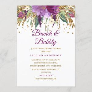 Floral Glitter Amethyst Brunch and Bubbly starting at 2.55