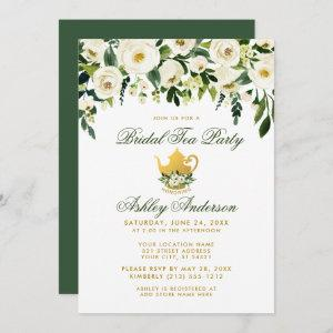 Floral Green Gold Bridal Tea Party Invitation GS starting at 2.51