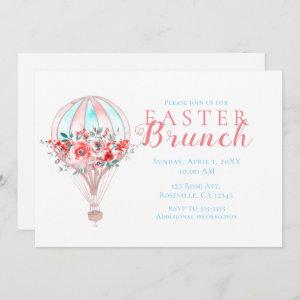 Floral Hot Air Balloon Easter Brunch Spring Party Invitation starting at 2.51