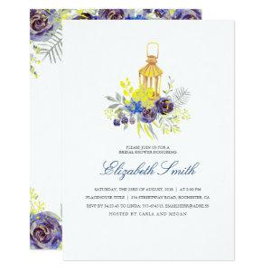 Floral Lantern Yellow and Blue Bridal Shower Invitation starting at 2.40