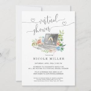 Floral Laptop | Virtual Bridal Shower Invitation starting at 2.46
