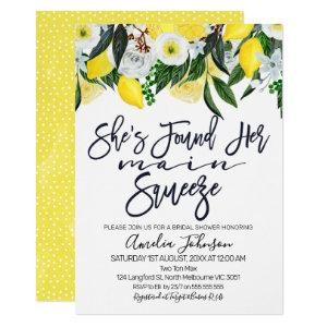 Floral lemon main squeeze bridal shower invitation starting at 2.15
