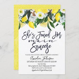 Floral lemon main squeeze bridal shower invitation starting at 2.40