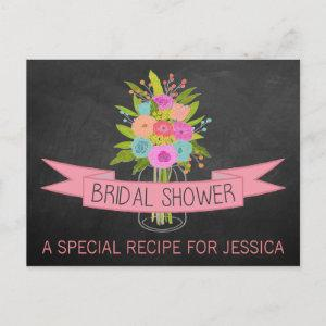 Floral Mason Jar Bridal Shower Recipe Cards starting at 1.70