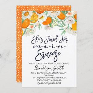Floral orange main squeeze bridal shower invite starting at 2.40