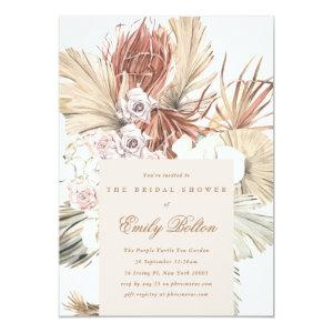 Floral Pampas Tropical Grass Bridal Shower Invitation starting at 2.61