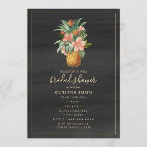 Floral Pineapple Watercolor Tropical Bridal Shower Invitation starting at 2.50