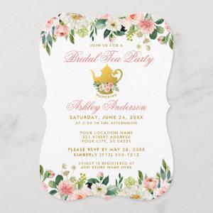 Floral Pink Gold Bridal Shower Tea Party Invite BP starting at 2.76