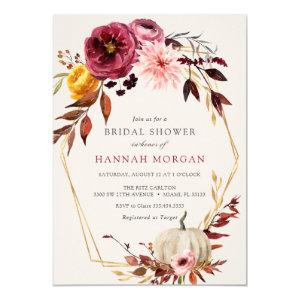 Floral Pumpkin Bridal Shower invitation starting at 2.20