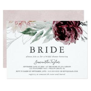 Floral Romance Horizontal Bride Bridal Shower Invitation starting at 2.51