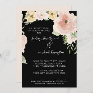 Floral Rose Pink Yellow Watercolor Couples Shower starting at 2.55