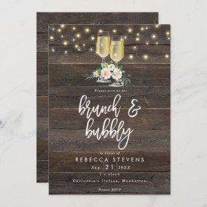 floral rustic brunch and bubbly bridal shower invitation starting at 2.56
