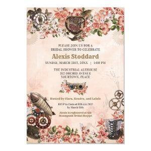 Floral Steampunk Bridal Shower Invitation starting at 2.55