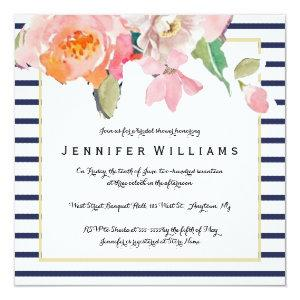 Floral stripe bridal shower invitations starting at 2.25