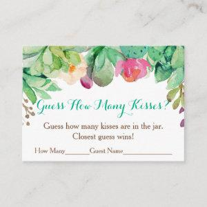 Floral Succulent Guess How Many Kisses Game Enclosure Card starting at 0.40