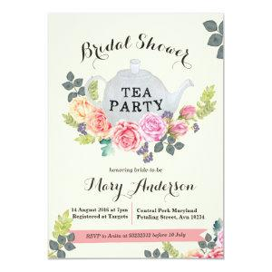 Floral Tea Party Bridal Shower Invitation starting at 2.66