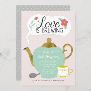Floral Tea Party Bridal Shower Love Is Brewing starting at 2.40