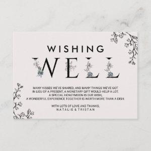 Floral Typography Wedding Wishing Well Enclosure Card starting at 1.91