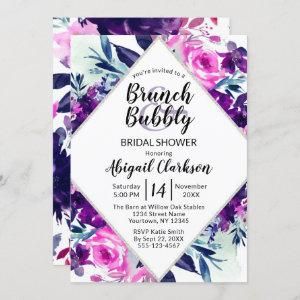 Floral Watercolor Brunch & Bubbly Bridal Shower Invitation starting at 2.55