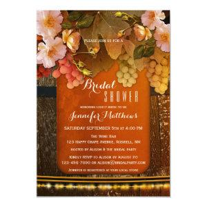 Floral Wine Themed String Lights Bridal Shower Invitation starting at 2.55