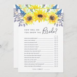 Flowerfields Double-Sided Bridal Shower Game Invitation starting at 2.51