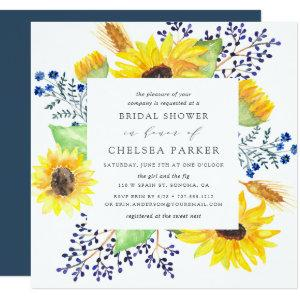 Flowerfields Square Bridal Shower Invitation starting at 2.41