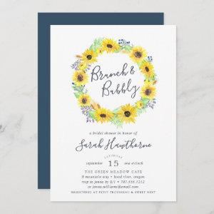 Flowerfields Wreath   Brunch & Bubbly Invitation starting at 2.51