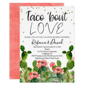 Flowering cactus taco bout love couples invitation starting at 2.40