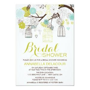 Flowers and Birdcages Bridal Shower Invitation starting at 2.51