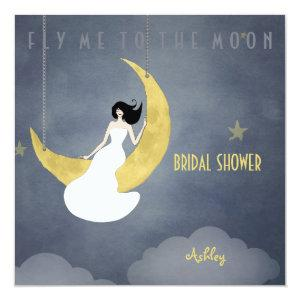 Fly Me to The Moon 2 Bridal Shower Invitation starting at 2.46