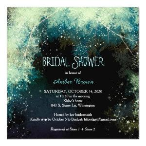 Forest Star Showers Indie Bridal Shower Invitation starting at 2.51
