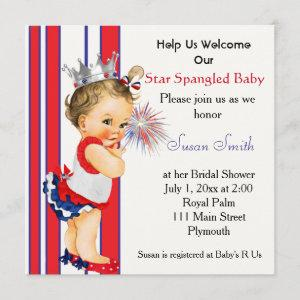 Fourth of July Baby Shower Invitation starting at 2.41