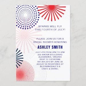 Fourth of July Bridal Shower Invitation for July 4 starting at 2.30