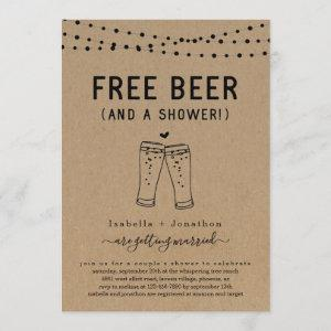 Free Beer Funny Couple's Bridal Wedding Shower Invitation starting at 2.61