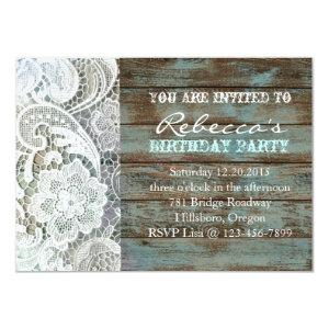 french country chic barn wood and lace invitation starting at 2.42