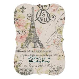 french country eiffel tower paris birthday party invitation starting at 3.02