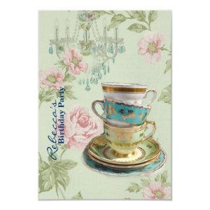 french country garden birthday tea party invitation starting at 2.32