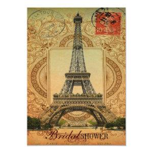french country modern vintage paris eiffel tower invitation starting at 2.77