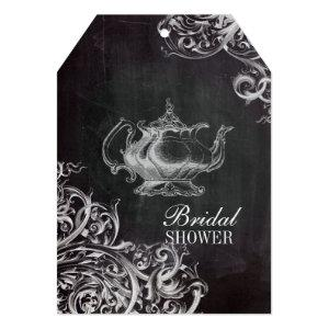 french country paris tea party chalkboard teapot invitation starting at 3.02