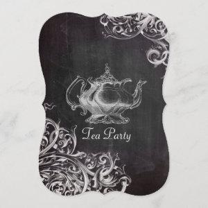 french country teapot chalkboard tea party starting at 3.02