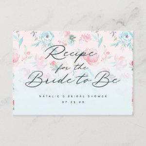 French Garden Floral Peony Bridal Shower Recipe Enclosure Card starting at 1.90