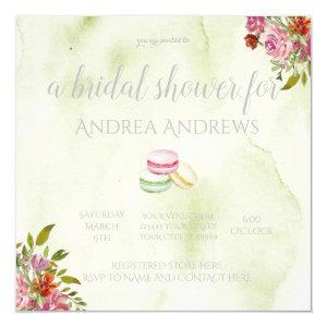 French Macaroon Bridal Shower Invitation starting at 2.30