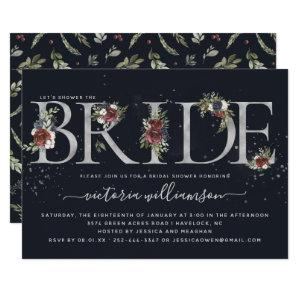 Frosted Floral Silver Winter Bridal Shower Invitation starting at 2.40