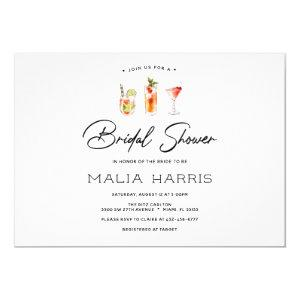 Fun Cocktail Bridal Shower invitation starting at 2.40