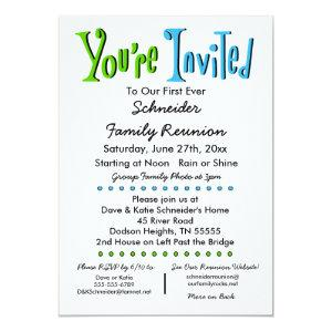 Fun Family Reunion Party or Event Invitation starting at 2.35