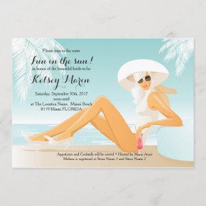 Fun in the Sun Bridal Shower Pool Party Invitation starting at 2.51