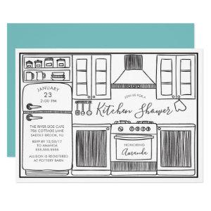 Fun Stock The Kitchen Shower Invitations starting at 2.40