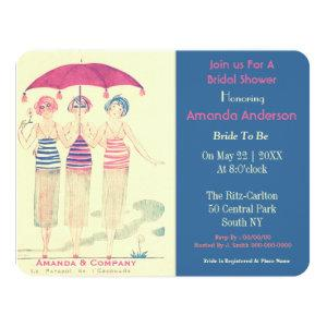 Funny bride and her woman friends invitation starting at 2.51