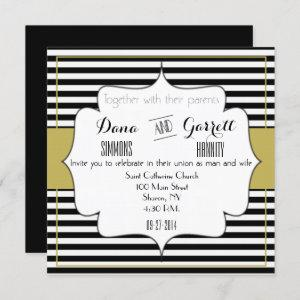 Gatsby Gold Wedding Suite Announcement Ceremony starting at 2.35